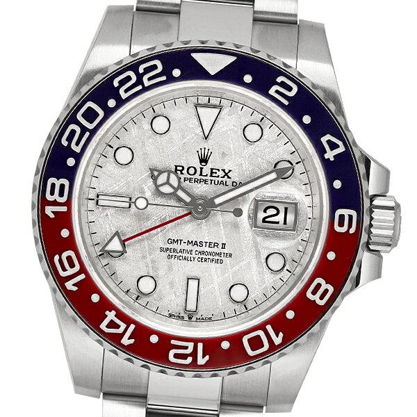 【美品】【保証書2020年8月記載】ROLEX ロレックス GMTマスターII 126719BLRO (メテオライト) 【中古】【自動巻】【メンズ】【腕時計】