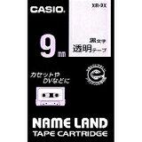 【在庫あり】 ネ−ムランドテ−プカ−トリッジ XR−9X 【黒文字:透明テープ】 シーンや用途を選ばず使える、汎用性の高いテープ