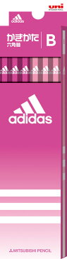 ◎アディダス<adidas> かきかた鉛筆12本入り 紙箱タイプ (B) ピンク K5589B 六角軸 三菱鉛筆 紙箱級/文具/文房具/新入学