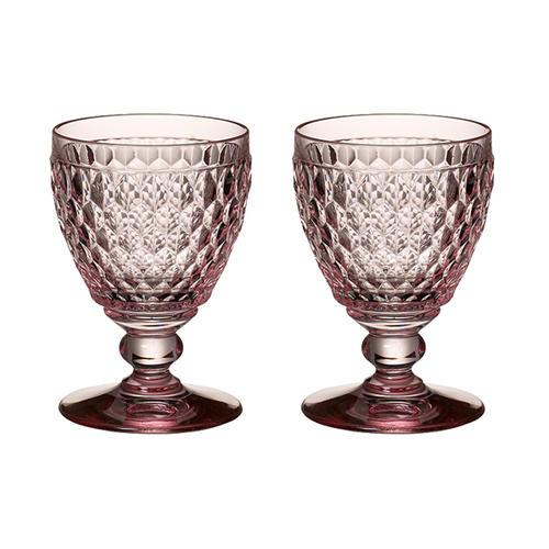 ビレロイ&ボッホ ボストン ワイングラス ピンク ペアギフトセット