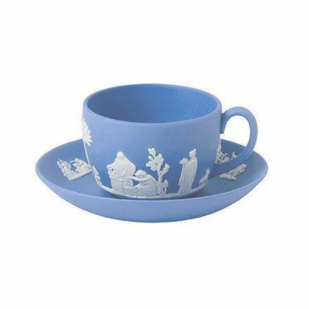 ウェッジウッド ジャスパーウェア ペールブルー ティーカップ&ソーサー