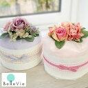 【おむつケーキ】Diaper cake Chou-choute ダイパーケーキ シュシュ 出産祝い パンパース使用 男の子 女の子 ベビーシャワー ハーフバースデー フラワー