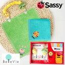 【出産祝い おむつケーキにプラス】Sassyミニタオル2P&ビブクリップセット(お名前刺繍入り) 男の子 女の子 Sassy 10P03Dec16