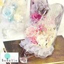 プリザーブドフラワー ガラスの靴 リングピロー 結婚祝い 退職祝い 誕生日祝い 開店祝い 新築祝い シンデレラ プロポーズ アレンジ 主人公 あす楽 送料無料