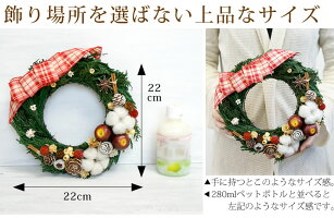 【クリスマスリース】ナチュラル・クリスマスリース