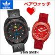 アディダス オリジナルス adidas originals 腕時計 STANSMITH スタンスミス ペアウォッチ(2本セット) メンズ & レディース ブラック & レッド アディダス ADH3163 ADH3183