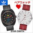 アディダス オリジナルス adidas originals 腕時計 STAN SMITH スタンスミス ペアウォッチ(2本セット) ユニセックス ブラック & レッド ADH9088 ADH3163