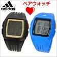 adidas アディダス パフォーマンス デジタル腕時計 ペアウォッチ(2本セット)ミディアム・ブラック & ブルー メンズ/レディース ユニセックス adidas(アディダス)ADP6136 ADP3234