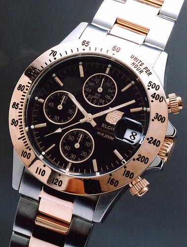 腕時計, メンズ腕時計 ELGIN110 FK1184PG-B