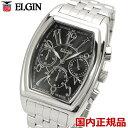 ELGIN エルジン 腕時計 トノー型 クロノグラフ メンズ...