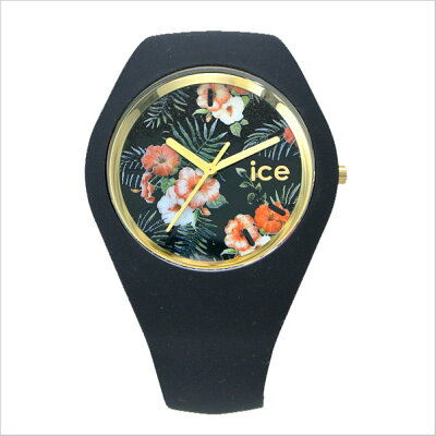【アイスウォッチ】ICEWATCH腕時計ICEFOLOWEアイスフラワーコローニアル/ブラック・ユニセックス(男女兼用)花柄・ボタ二力ル柄アイスウォッチICE.FL.COL.U.S【送料無料】