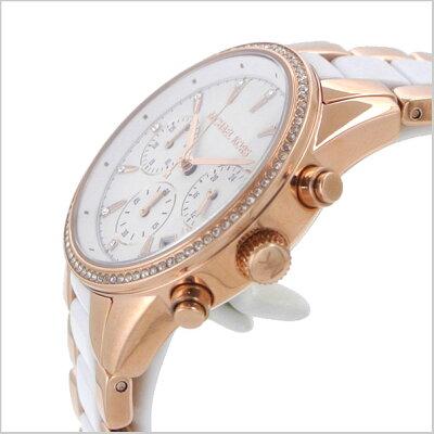 マイケルコースMICHAELKORS腕時計レディースクロノグラフホワイトxローズゴールドRitzリッツMK8492マイケルコース時計【送料無料】