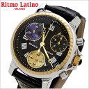 リトモラティーノ Ritmo Latino 腕時計 CLASSICO(クラシコ)クロノグラフ ラージサイズ ワニ革ベルト ...