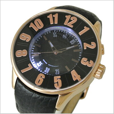 ロマゴデザインROMAGODESIGN腕時計ペアウォッチ(2本セット)メンズ&レディースNUMERATION(ヌメレーション)ミラーウォッチ牛革ベルト/ブラックxローズゴールド文字盤RM007-0053ST-RGRM068-0053ST-RG