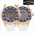 ロマゴデザイン腕時計 ROMAGO時計 ROMAGO DESIGN 腕時計 ロマゴ デザイン 時計 ATTRACTION(アトラクション) ミラーウォッチ シリコンラバーベルト/ホワイト x ローズゴールド/ブルー文字盤 ロマゴデザイン RM015-0162PL-RGBU【送料無料】