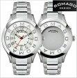 ロマゴデザイン腕時計 ROMAGO時計 ROMAGO DESIGN 腕時計 ロマゴ デザイン 時計 ATTRACTION (アトラクション)ミラーウォッチ ステンレスベルト/シルバー x ホワイト文字盤 RM015-0162SS-SVWH【送料無料】