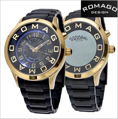 ロマゴデザイン腕時計ROMAGO時計ROMAGODESIGN腕時計ロマゴデザイン時計ATTRACTION(アトラクション)ミラーウォッチステンレスベルト/シルバーxホワイト文字盤レディース・ユニセックスRM067-0162SS-GDBK【送料無料】