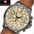 【時計スタンドプレゼント】SWISS MILITARY スイスミリタリー 腕時計 クロノグラフ・ARROW(アロー) ベージュ文字盤 メンズ ML-398