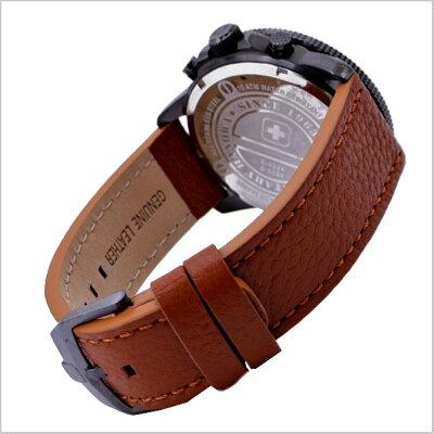 SWISSMILITARYWATCH(スイスミリタリーウォッチ)クロノグラフ腕時計・ARROW(アロー)ベージュ文字盤(男性用)ML-398【送料無料】