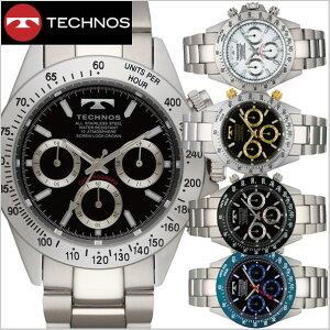 【テクノス】TECHNOS 腕時計メンズ クロノグラフ