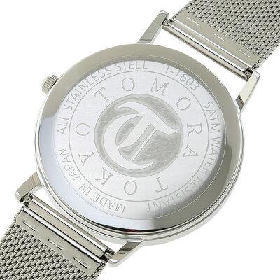 TOMORATOKYOトモラトーキョー腕時計マルチカレンダー/メッシュベルト・メンズホワイトxローズゴールド【国内正規品】T-1603-PWH