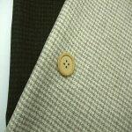 【ウールポリエステルナイロン先染チェック生地2色】140cm幅ウール60%ポリエステル36%ナイロン2%アクリル2%チェックジャケットスカートパンツ布帛婦人服裁縫縫製イタリア製
