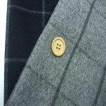 【1/10ウールシャギーウインドウペンチェック2色】145cm幅2色:Lグレー・ネイビーウール65%ポリエステル31%ナイロン3%アクリル1%チェックジャケットコート起毛織物綾織布帛裁縫縫製日本製