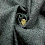 【ウールストレッチツイード起毛生地グレー】140cm幅ウール66%ポリエステル26%ナイロン4%アクリル3%ポリウレタン1%ツイードジャケットコート起毛織物綾織布帛裁縫縫製日本製