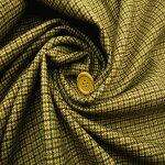 【ウールカシミアガンクラブチェック生地ベージュ系】155cmウール95%カシミア5%カラー:ベージュXブラック織物先染チェックジャケット