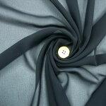 【ポリエステルJシフォンジョーゼット生地ブラック】112cm幅カラー:ブラック(FBK)ポリエステル100%織物平織無地日本製ハンドメイド裁縫エステルテトロン布