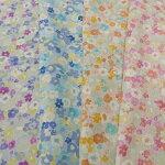 【綿麻キャンバス花柄プリント生地4色】2個(1m)以上、50cm単位販売商品