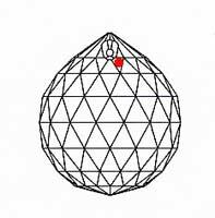 シャンデリアパーツ#8558【アンティークグリーン】 20mmΦボール型1穴スワロフスキー・クリスタル