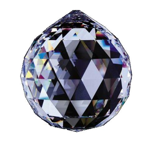シャンデリアパーツ#8558【クリスタル】30mmΦボール型1穴スワロフスキー・クリスタル