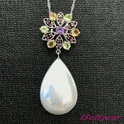 【送料無料】Belljewベルジュペンダントネックレスマベパールマベ真珠