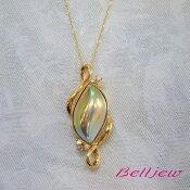 【送料無料】BelljewベルジュK18ペンダントトップネックレスマベパールマベ真珠