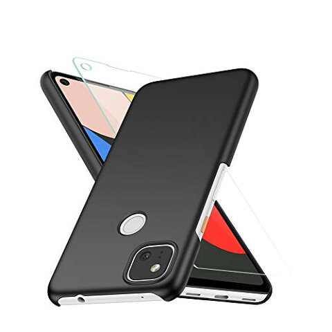 Google pixel 4a ケース + Google pixel 4a ガラスフィルム(2枚入) Vikisda Google pixel 4a カバー 薄型 PC 指紋防止 レンズ保護