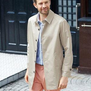 ハーフコート S M L LL 3L <コムルヴァン・オム>高機能素材コート(S〜3L) ベルーナ 40代 50代 60代 メンズ 紳士 大人 ファッション 春 春服 メンズライフ ハーフ コート アウター 羽織 スプリングコート 春コート