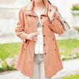 裏プリントボンディングコート ベルーナ40代 50代 60代 レディース ミセス ファッション】【再販売】