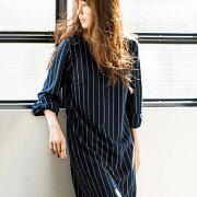 シンプル リボンカットソーワンピース ベルーナ ファッション レディース チェック