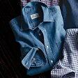 シャツ/M/L/LL綿100%きれいめカジュアルシャツ デニム(M〜LL) ベルーナ【40代 50代 60代 メンズ 紳士 男性 ファッション】