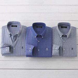 【クーポン配布中】シャツ メンズ 夏 S M LL L 3Lサイズ 爽やかブルーシャツ。ブルー系3パターンから選べる夏の定番カジュアル。 きれいめ上品長袖シャツ ベルーナ 40代 50代 60代 ファッション メンズ 紳士 おじいちゃん プレゼント 小さいサイズ 【在庫残りわずか】