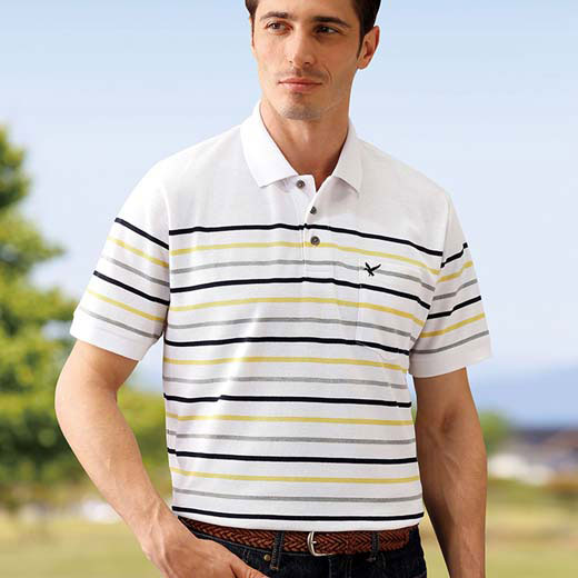 ポロシャツメンズ夏SMLLL3Lサイズ夏のボーダー。見た目も爽やかなボーダー柄で