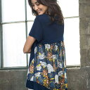 Tシャツ M LL L 3Lバック切替デザインTシャツ ベルーナ べるーな ラナン Ranan 30代 40代 ファッション レディース ストライプシャツ 夏