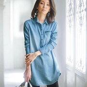 チュニック ワンピース ブラウス ジッパーデザインチュニック ベルーナ レディース ファッション