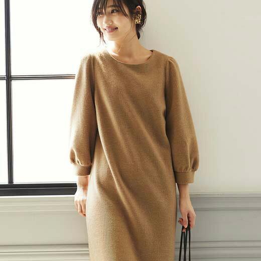 ワンピースMLLL3Lふんわり素材ワンピースベルーナ30代40代ファッションレディースワンピース長袖秋冬レディース
