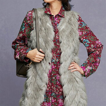 ●アウトレット●ベスト レディース 女性 春 M LL L 3Lサイズ フェイクファーニットデザインベスト ベルーナ 40代 50代 60代 レディース 女性 ミセス ファッション おばあちゃん プレゼント在庫処分 在庫限り 在庫限り 在庫処分