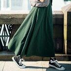 フレアースカート M LL L 3L 編地柄ニットソーマキシスカート ベルーナ ラナン Ranan 秋冬 秋服 30代 40代 ファッション レディース