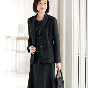 65528f0302cd3 スーツ ブラックフォーマル 春 9AR 7AR 17AR 15AR 13AR  11ARサイズ 5点セット フレアースカート付3ボトム5点セット(7AR~17AR) ベルーナ 40代 50代 60代 ...