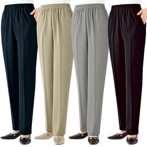 復刻版さらっと快適パンツ4本組(3L〜6L) ベルーナ ルフラン 40代 50代 60代 レディース ミセス ファッション セット タイムセール タイムセール 大きいサイズ