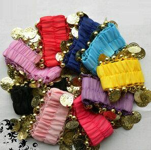 【389】【メール便 OK】ベリーダンス アクセサリーベリーダンス 衣装 アクセサリ コイン付き ハンドアクセサリ(2個) 全10色